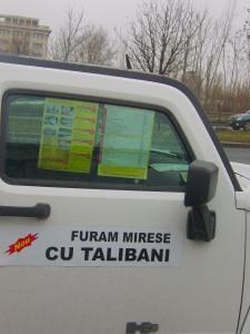 Limozina cu talibani