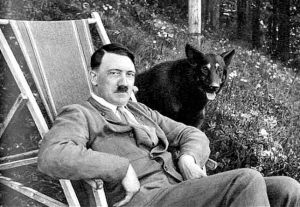 Hitler Dog BW