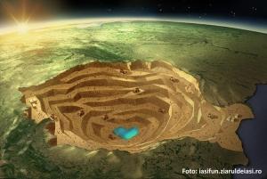 Romania Crater - Rosia Montana
