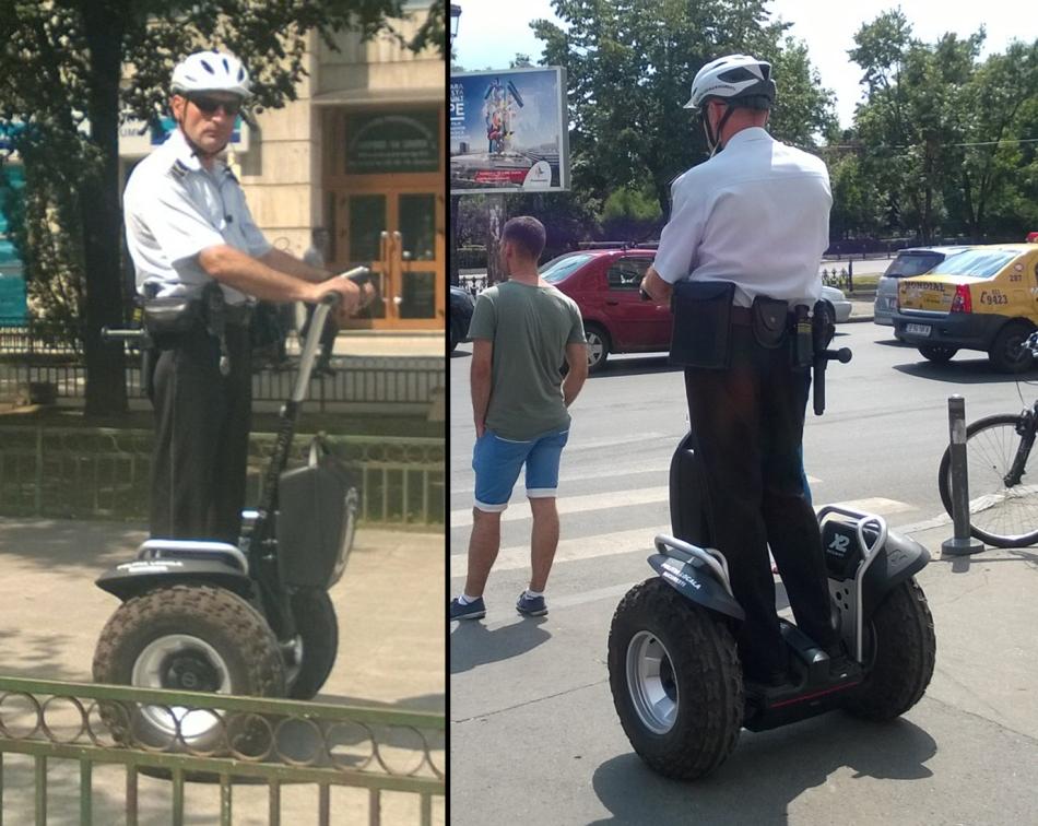 """POLIŢIA SEGWAY: După achiziţia unor """"jucării"""" de 6.000 de euro bucata, hoţii sunt fugăriţi cu 20 km/h!"""
