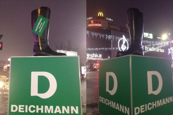 Deichmann - Statuia Cizmei - Piata Unirii