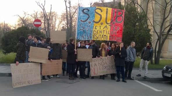 Protest SSUB Studenti Bucuresti