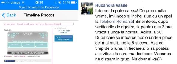 Viteza internet Telekom Romania FB