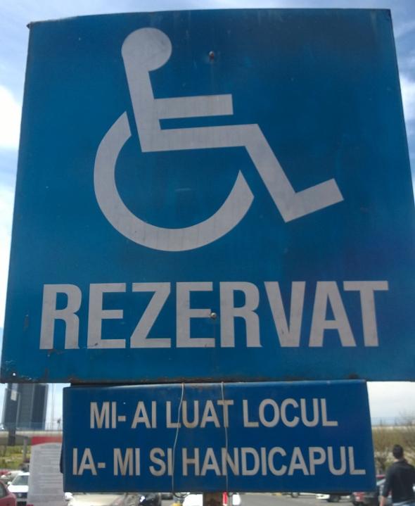 Loc parcare handicap