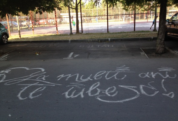 Declaratie de dragoste - strada Motoc