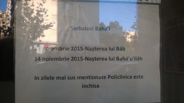 Baha'i - Policlinica Sociala Regina Maria