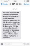 PMP Basescu SMS