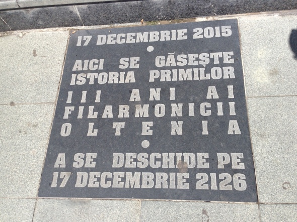 Capsula timpului - Filarmonica Oltenia