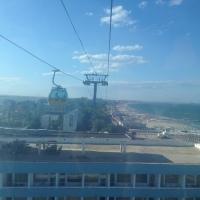 TELEGONDOLA DIN MAMAIA: Zbor de 20 lei, pe 2 kilometri, la 50 de metri deasupra Mării Negre!