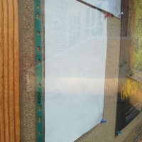 AVIZIER: Primul anunț în Braille, protejat de un panou de sticlă!
