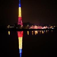 """CIUREL: """"Cel mai mare brad și cel mai mare tricolor din București!"""""""