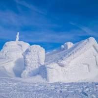 CABANA OMU: Liniște hibernală la 2507 m imortalizată de meteorologul de serviciu