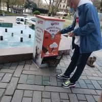 ISTANBUL: Automat pentru a hrăni pisici fără stăpân. Anima et Animus!